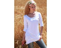 Shirtschnitt, Shirt mit Teilungsnähten und Zugeffekten