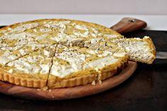 leek + creme fraiche + goat cheese tart