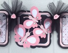Butterfly baby shower banner it's a girl por NancysBannerBoutique