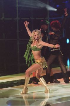 Britney performing at the NRJ Awards in 2002.