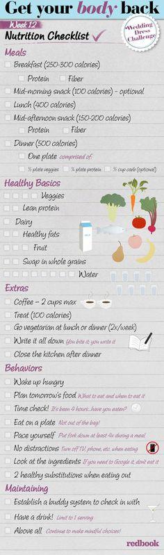 The Week 12 Nutrition Checklist