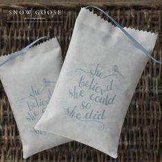 She Believed Lavender Bag from www.snowgooseuk.com