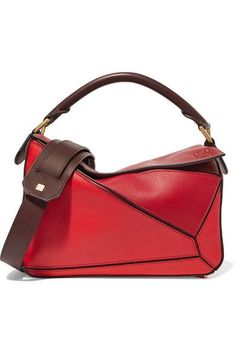 LOEWE Puzzle small color-block leather shoulder bag. #loewe #bags #shoulder bags #hand bags #leather #