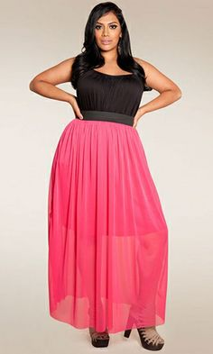 Plus Size Maxi Skirt at www.curvaliciousclothes.com Sizes 1X -6X #plussize #clothing #bbw #fashion