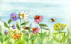 Appreciate the beauty of flowers by creating your own garden watercolor paintings! Learn how to create colorful compositions with these tricks!
