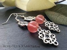 DangleDrop Earrings Beautiful Semi-Precious by RoseTeaAndRabbit https://www.etsy.com/uk/listing/234016316/dangledrop-earrings-beautiful-semi?ref=shop_home_active_1