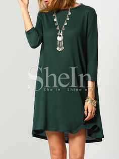 Shop Dark Green Round Neck Cut Out Casual Dress online. SheIn offers Dark Green Round Neck Cut Out Casual Dress & more to fit your fashionable needs.