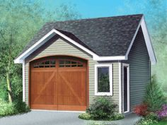 Traditional Detached Garage Plan, 072G-0011