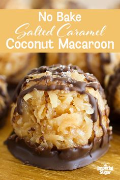 No-Bake Salted Caramel Coconut Macaroons
