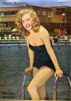 Marilyn Monroe in the Sunday News circa [August 14, 1949]