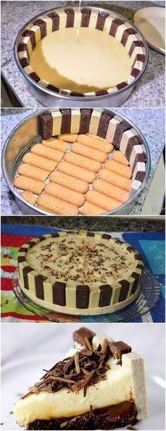 TORTA MARAVILHOSA E NÃO É DIFICIL DE FAZER VAMOS VER? VEJA AQUI>>>Em um liquidificador bata o creme de leite com o leite condensado e a maizena Depois em uma panela grande misture com o leite com o creme batido #receita#bolo#torta#doce#sobremesa#aniversario#pudim#mousse#pave#Cheesecake#chocolate#confeitaria Chef Recipes, My Recipes, Sweet Recipes, Dessert Recipes, Cooking Recipes, Brazillian Food, Yummy Treats, Yummy Food, Ratatouille