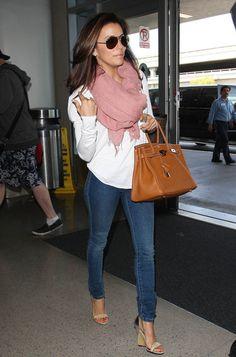 Eva Longoria Photos: Eva Longoria Arriving For A Flight At LAX