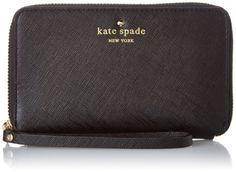 kate spade new york Cherry Lane Laurie Wallet,Black,One Size