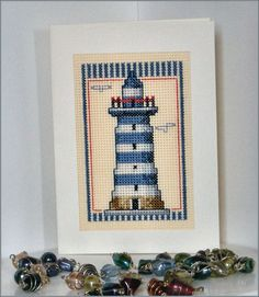 Beach Lighthouse Card