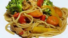 Espagueti chino | Chow mein | Cocinando con Angel