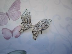 Angel Wings Filigree Butterfly Silver Tone Charms by Charms4Design (Craft Supplies & Tools, Jewelry & Beading Supplies, Charms, Angel Wings, Filigree Butterfly, filigree charm, butterfly charm, angel wing charm, butterfly supplies, pendant supplies, necklace supplies, jewelry supplies, jewellery supplies, angel doll supplies, craft supplies, Charms4Deisgn)