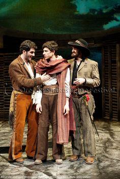 Oregon Shakespeare Festival. ROMEO AND JULIET (2012): Kevin Fugaro, Daniel José Molina, Jason Rojas. Photo: Jenny Graham.
