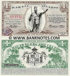 Hawaiian Money Hawaii 1 Dala 2007 Currency Bank Notes Paper