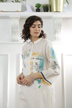 New Kurti Designs, Kurta Designs Women, Kurti Designs Party Wear, Pakistani Dresses Casual, Casual Dresses, Casual Outfits, Fashion Dresses, Casual Suit, Casual Wear