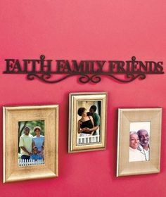 Personalized Faith Family Friends Quote With Last Name Canvas Print Wall Art Home Decor Www Neatandnicemerchandise Work Pinterest Walls And