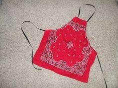 bandana crafts easy | Kids apron from a bandana..so easy and cute. by gabriela