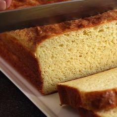 A tried and true keto bread recipe that's less than 1 gram of carb per slice. It's perfect for making sandwiches. #ketorecipes #lowcarbrecipes #lowcarbbread #ketobread | LowCarbYum.com