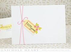 Tagged Thank You Card by Nichole Heady for Papertrey Ink (June 2014)