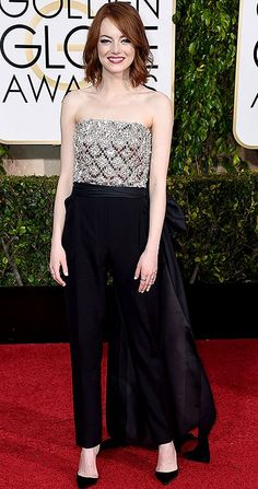 990125c7a5 Best dressed at the 2015 Golden Globes - Emma Stone in a Lanvin jumpsuit