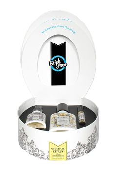 what a fun housewarming gift or for someone who just went through a bathroom remodel! Poo-pourri potty box gift set, citrus and lavender. Tiny Powder Rooms, Best Housewarming Gifts, Toilet Spray, Gift Sets For Women, Poo Pourri, Spa Gifts, Natural Essential Oils, Deodorant, Bath And Body