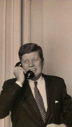 President Kennedy on the phone