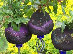 Softpots - old tights to plantpots!