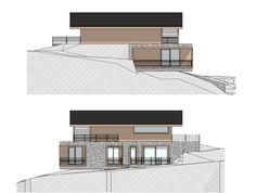 Villa Rehbühel Villa, Rural House, Multi Story Building, Floor Plans, Exterior, Cabin, Inspiration, Stone Facade, Build House