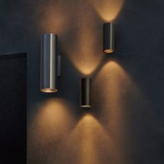 Californian manufacturer Meteor Lighting's Lance series features cylindrical, outdoor wall lights, designed to accentuate the architectural elements of a building. Meteor Lights, Browser Extensions, Building Exterior, Dezeen, Architectural Elements, Outdoor Walls, Industrial Design, Beams, Facade