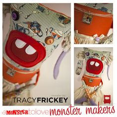 """This tea monster comes to you from our favorite """"tea lady"""" Tracy Frickey! She will be available at our Monster Makers Event on May 3rd at Tenn Street Coffee and Books. Come on down and join us it is going to be a GREAT time!"""