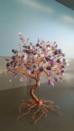 Wire Earrings, Wire Jewelry, Beaded Jewelry, Handmade Jewelry, Ming Tree, Bonsai Wire, Wire Tree Sculpture, Money Trees, Wire Trees