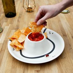 Volcano Novelty Dishes Snack Table Chip And Dip Bowl, Serving Dishes, Kitchen Dining, Dips, Volcano, Snacks, Ethnic Recipes, Salsa, Gadgets