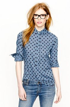 Jcrew polka dot shirt