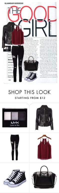 Good Girl by samantharigor on Polyvore featuring Alexander Wang, Miss Selfridge, Givenchy, NYX and Leather