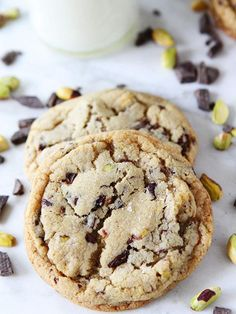 Dark Chocolate Chunk, Pistachio Cookies Recipe