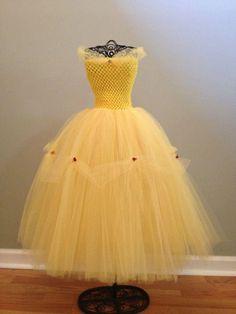 Belle inspired tutu dress  nb-2t. $25.00, via Etsy.