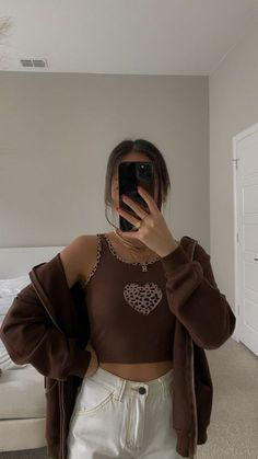 Indie Outfits, Retro Outfits, Cute Casual Outfits, Fashion Outfits, Mode Indie, Mode Hipster, Looks Pinterest, Brown Outfit, Mein Style