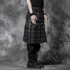 Saias góticos dos homens negros da venda por atacado do delírio do punk (Q-225) –Saias góticos dos homens negros da venda por atacado do delírio do punk (Q-225) fornecido por Guangzhou Ruier Clothing Co., Ltd. para Lusofonia