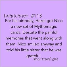 I miss the mythomagic days..... why can't Nico still be like that?