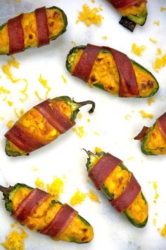Cheesy Cornbread-Stuffed, Bacon-Wrapped Jalapeno Peppers