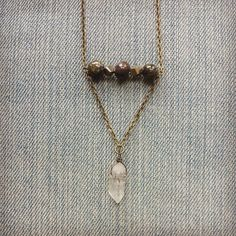 Pyrite And Dragons Blood Jasper Necklace With by MarleeCWatts