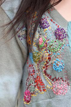 Gorgeous gorgeous gorgeous deconstructed embroidery on recycled cashmere