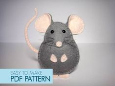 Easy to sew felt PDF pattern. DIY Pablo the Mouse, finger puppet or ornament. Easy to sew felt PDF pattern. DIY Pablo the Mouse, finger puppet or ornament. Felt Christmas Decorations, Felt Christmas Ornaments, Christmas Crafts, Tree Decorations, Christmas Ideas, Christmas Tree, Softies, Sewing Crafts, Sewing Projects