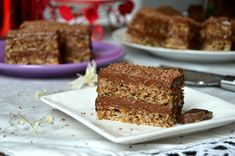 A delicious cake with nuts and chocolate cream – it's time … – Sweet World Ideas Scottish Recipes, Turkish Recipes, Romanian Food, Romanian Recipes, Chocolate Cream, Chocolate Cakes, Something Sweet, Desert Recipes, Healthy Desserts