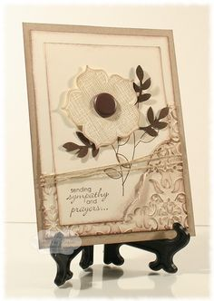 by Renee Van Stralen, Stamping for Sanity.  I like how the front layer is torn to reveal the embossed layer...and the embossing is inked