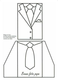 Billedresultat for wedding card template cut dress This is an awesome card idea.Bilderesultat for tutorial tuxedoDressShirt/Tie/Vest Card Template:: Perfect for Father's Day.New origami tutorial easy rose IdeasT T shirt and waistcoat templatepergaman Card Making Templates, Daddy Day, Shaped Cards, Fathers Day Crafts, Card Sketches, Masculine Cards, Folded Cards, Diy Cards, Homemade Cards